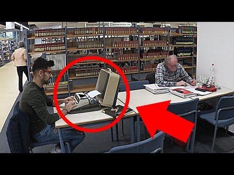 Schreibmaschine in der Bibliothek Prank 😂Artur Iz Da