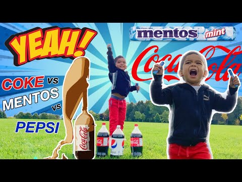 COCA-COLA vs MENTOS & PEPSI vs MENTOS CHALLENGE | Big Explosion Experiment!