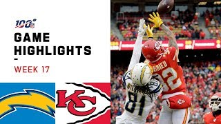 Chargers vs. Chiefs Week 17 Highlights   NFL 2019