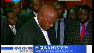 Miguna Miguna still missing as High Court summons IG and DCI