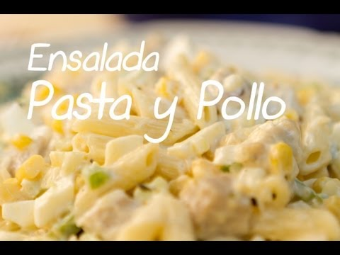 Ensalada Fría de Pasta y Pollo Estilo Delicatessen Americano