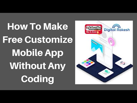 How to make free customize mobile app without any coding 2020