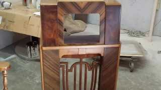 Refinishing A Midwest  Art Deco Radios Timeless Arts Refinishing