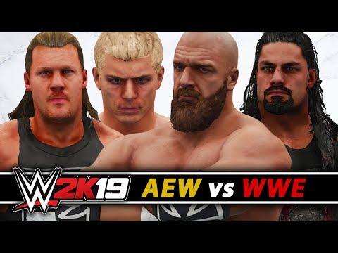 WWE vs AEW 30 MAN ROYAL RUMBLE MATCH!! (WWE 2K19)