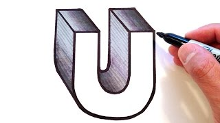 How to Draw the Letter U in 3D