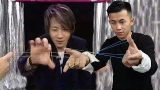 魔術揭秘:皮筋互相穿越,被劉謙騙了10年,其實背後很間單