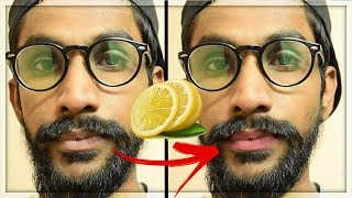 How To Get Rid Of Dark (Black) lips at Home | Remove Cigarette Stains | TheRealMenShow★