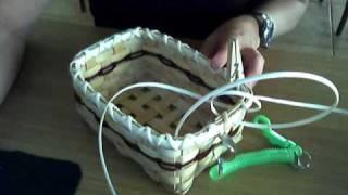 Basket Weaving Video #11c--Lashing on the Rim