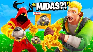 I Trolled Him With Midas Fish EARLY! - Fortnite
