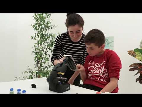 Microscopio 40-640 aumentos con soporte Smartphone National Geographic