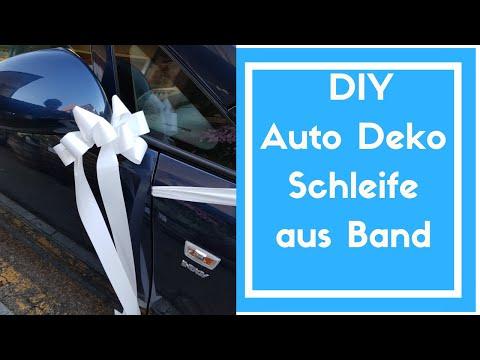 Auto dekorieren Hochzeit - Schlichte & Kostengünstige Deko Idee mit Band