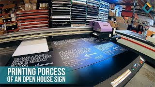 """Open House By Jeannette Thompson"" signage printing"