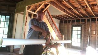 Trick to cutting PVC pipe straight with a Sawzall.