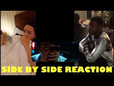 Daisy Ridley and John Boyega Reacts Side by Side to Official Trailer