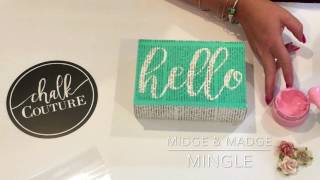 Chalk Couture-Hello Canvas with Midge & Madge Mingle
