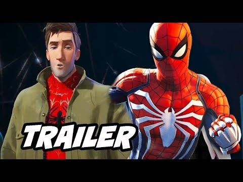 Spider-Man Into The Spider-Verse Trailer Marvel Easter Eggs and References