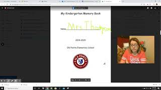 Kindergarten Memory Book: Part 1