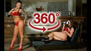 360 video VR Porn stars - Christy Mack & Kendra Lust (ONSET BTS)