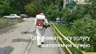 """Выксавкурсе.рф: УК """"АККОРД"""" провел дезинфекцию многоквартирного дома"""