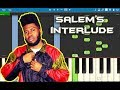 Khalid - Salem's Interlude Piano Tutorial EASY (SUNCITY) Piano Cover