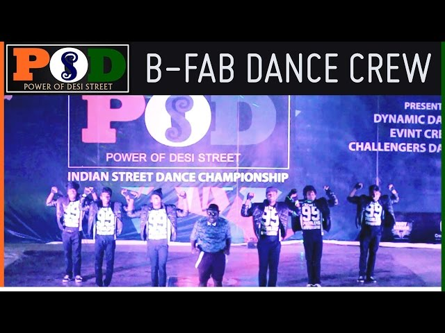2nd Place B Fab Dance Crew From Chennai Is Really Fab ...