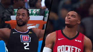NBA 2K20 - Los Anegles Clippers vs. Houston Rockets - Full Gameplay