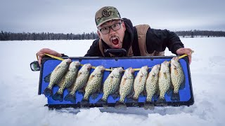 Ice Fishing For SUSPENDED Crappies! (CATCH CLEAN COOK)