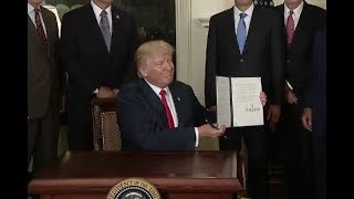 Trump Signs Order On China