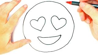 Cómo Dibujar Un Emoji Enamorado Para Niños   Dibujo De Emoji Enamorado