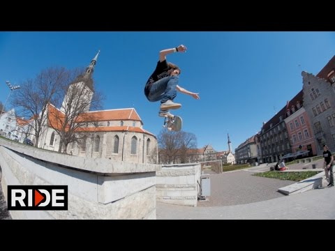 Dave Bachinsky Skates Old City Tallinn, Estonia