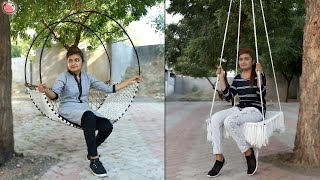 Home & Family ! 5 DIY Swing Jhula Making At Home ! Hanging Chair