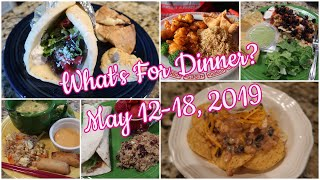 What's For Dinner?  May 12-18, 2019 | Cooking for Two | Easy Meal Ideas