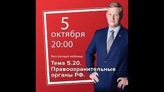 Тема 5.20. Правоохранительные органы. Судебная система РФ. Теория и практика.