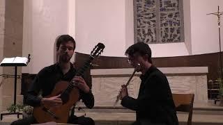 Le concert du Duo Lazare à Entraygues le 10 août 17 avec Guillaume Bleton et Pierre Martinet.
