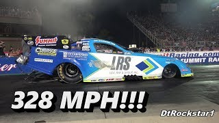 Top Fuel Funny Cars: John Force Does 328 MPH Pass!