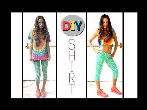 DIY Crop Top - Do it yourself Fitness Shirt - Super easy & fast - #Zalandolifehacks - BodyKiss