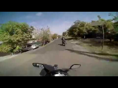 Погоня полиции за пьяным мотоциклистом в Краснодаре