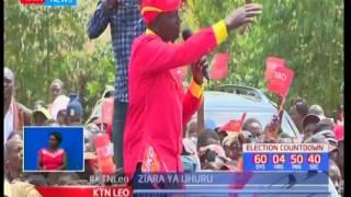 Rais Uhuru Kenyatta na Naibu wake William Ruto wazuru Transzoia katika ziara za kampeni