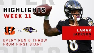 Every Run & Throw from Lamar Jackson's First Career Start