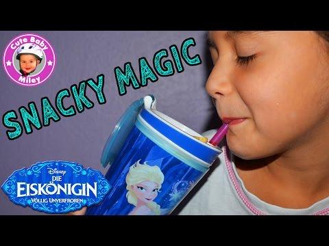 Snacky magic kids Eiskönigin Elsa - Snack und Drink Becher in einem to go - Kinderkanal