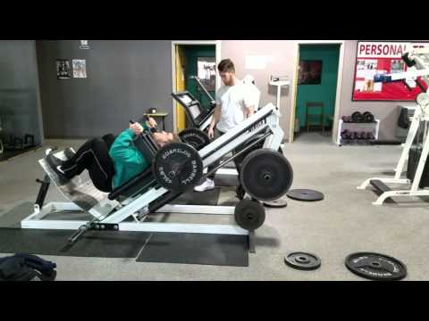 Hack Squat Dropset with Heavy Band
