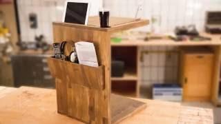 Wszystko pod ręką: Specjalny stolik do sofy z konstrukcją warstwową