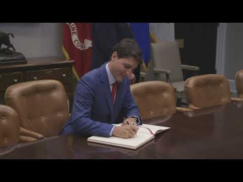 President Trump Welcomes Prime Minister Trudeau of Canada to the White House