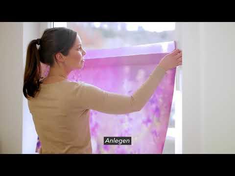 Lichtblick Fensterfolie mit Motiv und Muster, selbstklebend Montageanleitung