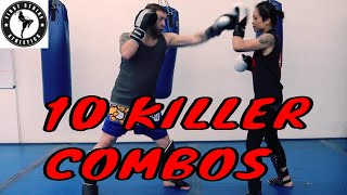 10 Killer Kickboxing Combos For Beginners To Advanced