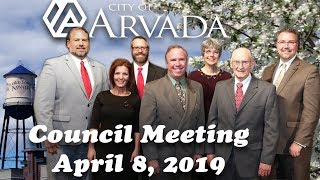 Preview image of Arvada City Council Meeting -  April 8, 2019