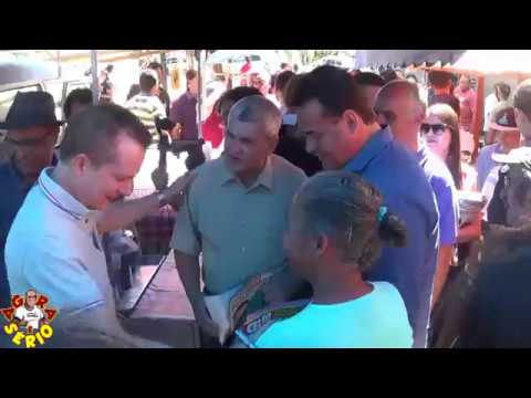 Jorge Wilson o Xerife do Consumidor e Celso Russomano em Juquitiba Caminhada na feira de Juquitiba
