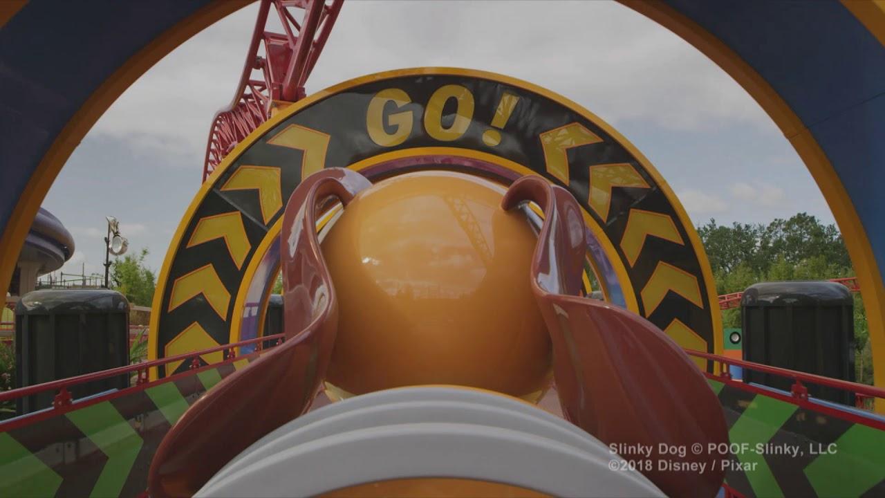 Slinky Dog Dash POV pre-opening