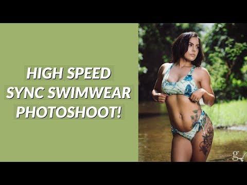 High Speed Sync Off Camera Flash Swimwear Photoshoot - Behind the Scenes
