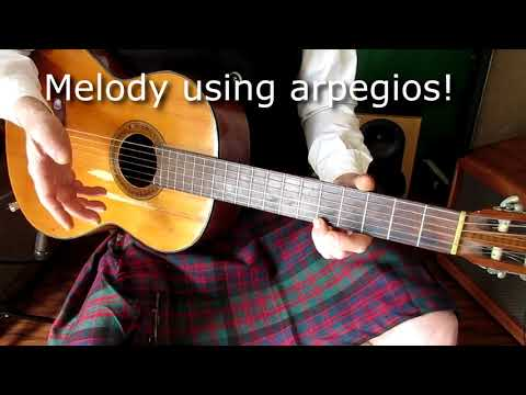 Acoustic open-G lesson featuring the classic folk song Scotland the Brave